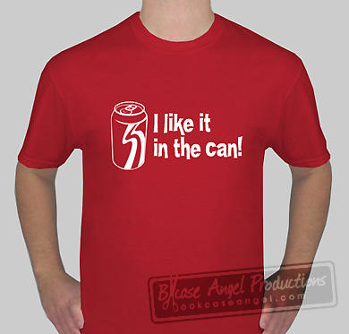 in the can tee bookcase angel productions